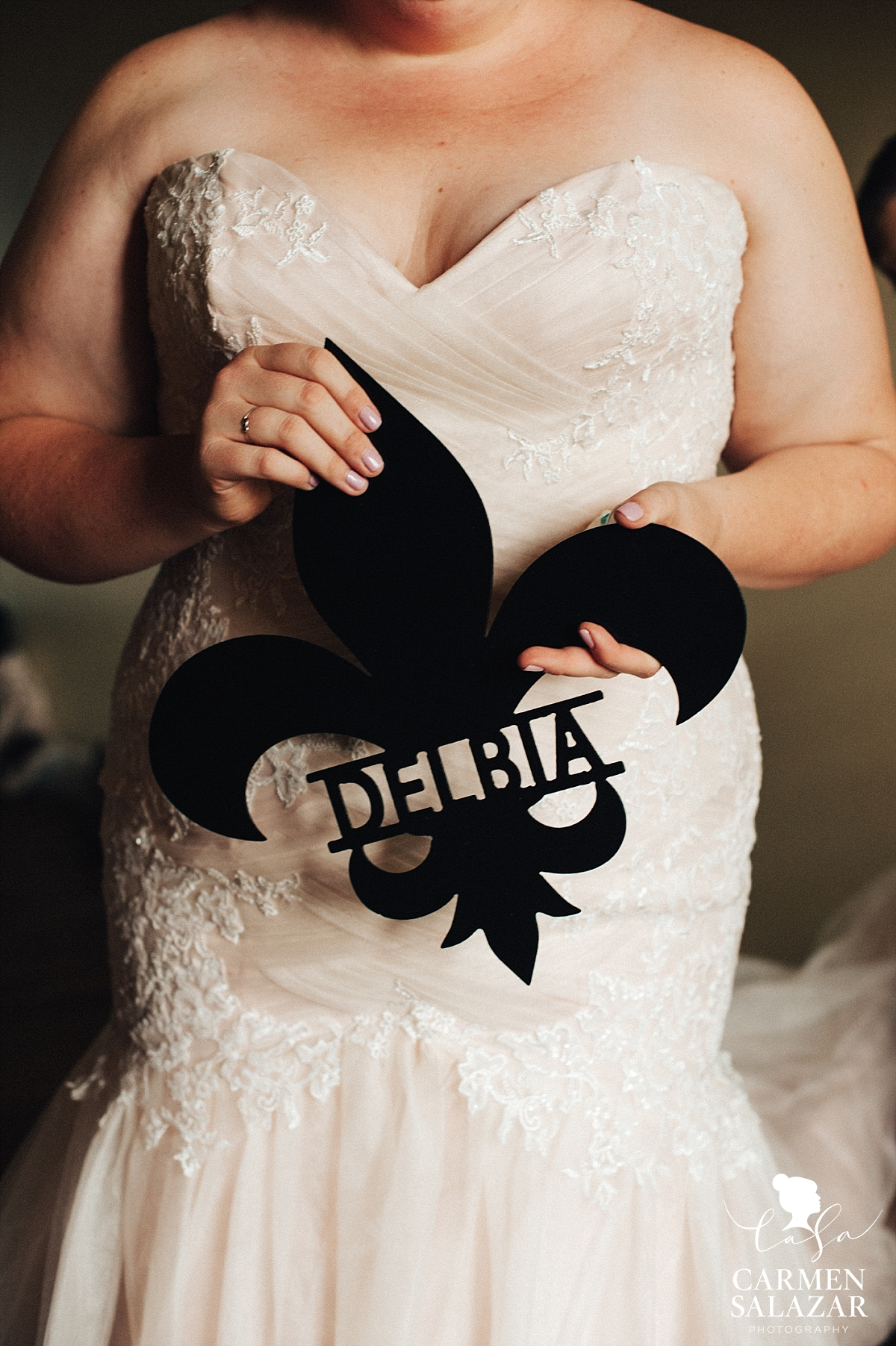 Personalized fleur de lis wedding gift - Carmen Salazar