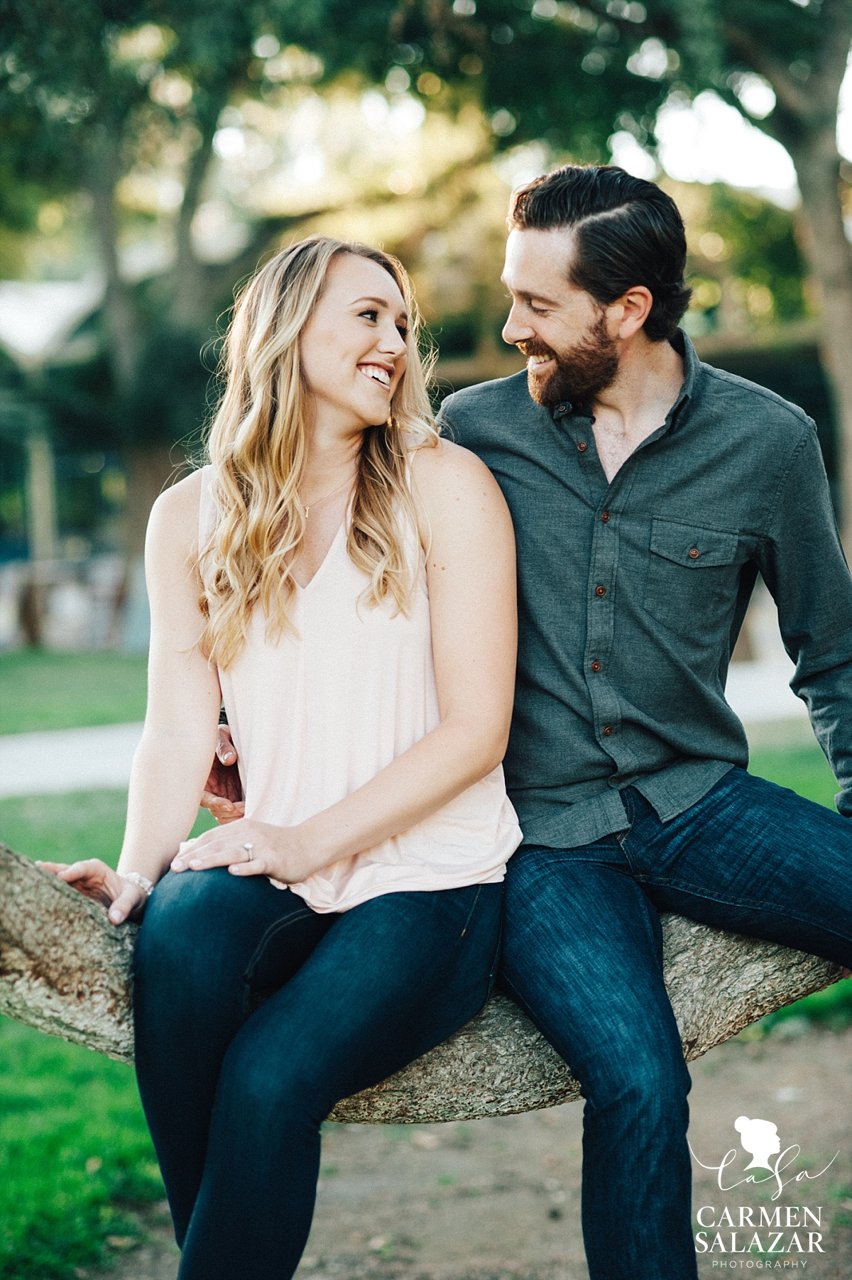 Outdoor Davis engagement portraits - Carmen Salazar