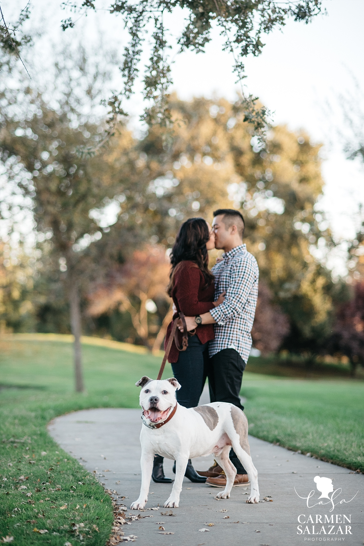 Dog-friendly engagement photographer - Carmen Salazar
