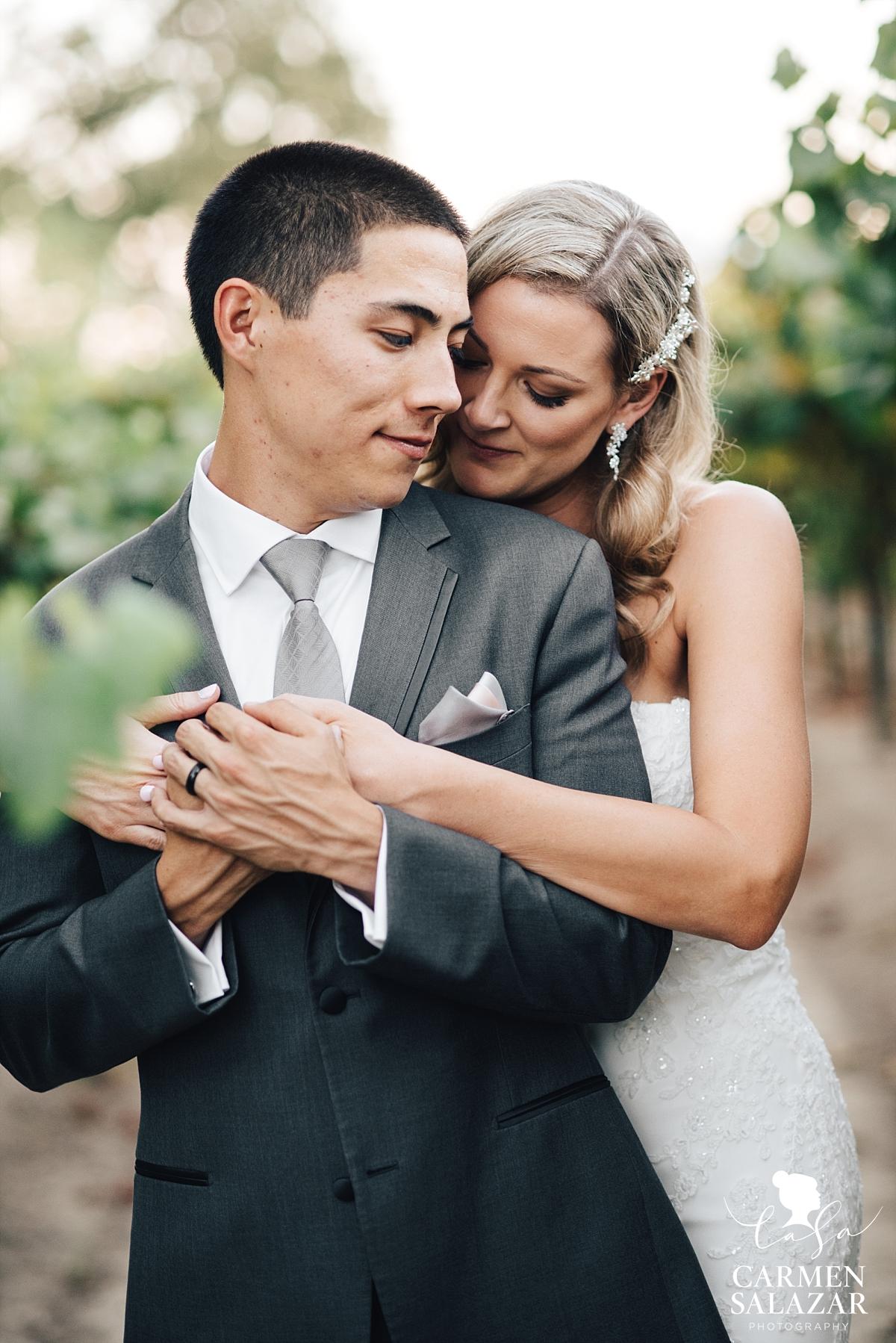 Romantic Sacramento vineyard wedding portraits - Carmen Salazar