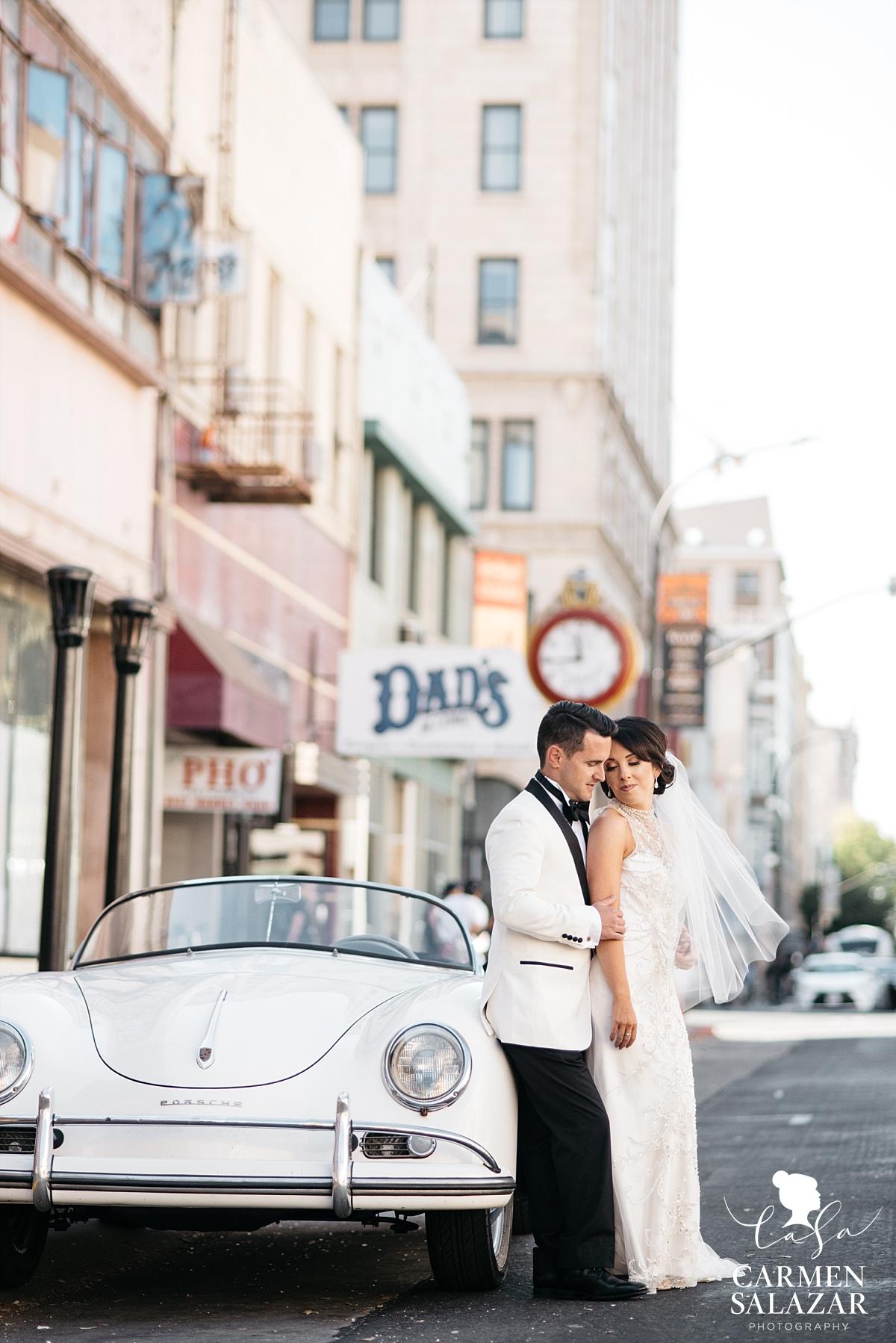 Classic Porsche Downtown Sacramento wedding photography - Carmen Salazar