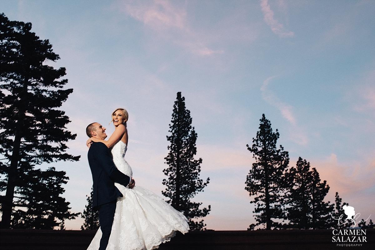 Ritz-Carlton Tahoe sunset wedding - Carmen Salazar