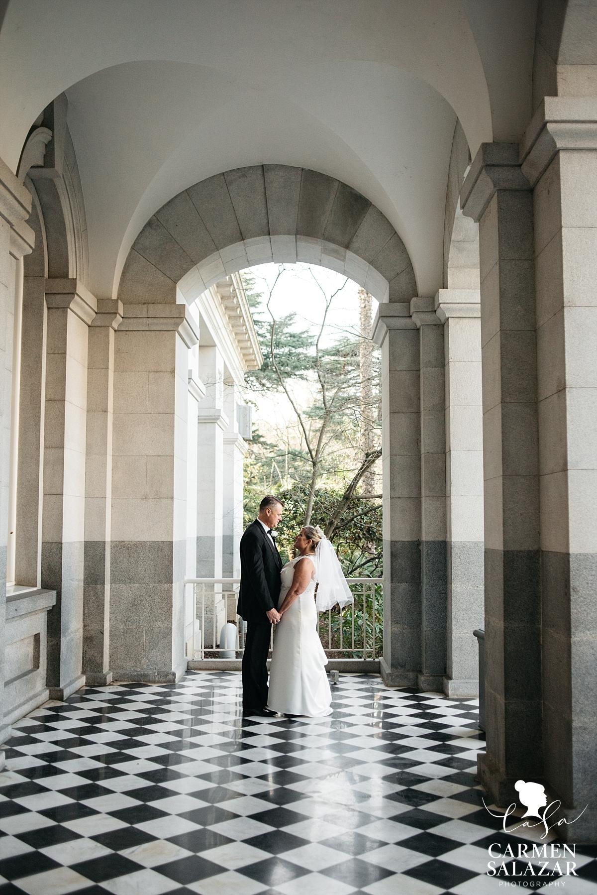 State Capitol bride and groom portraits - Carmen Salazar