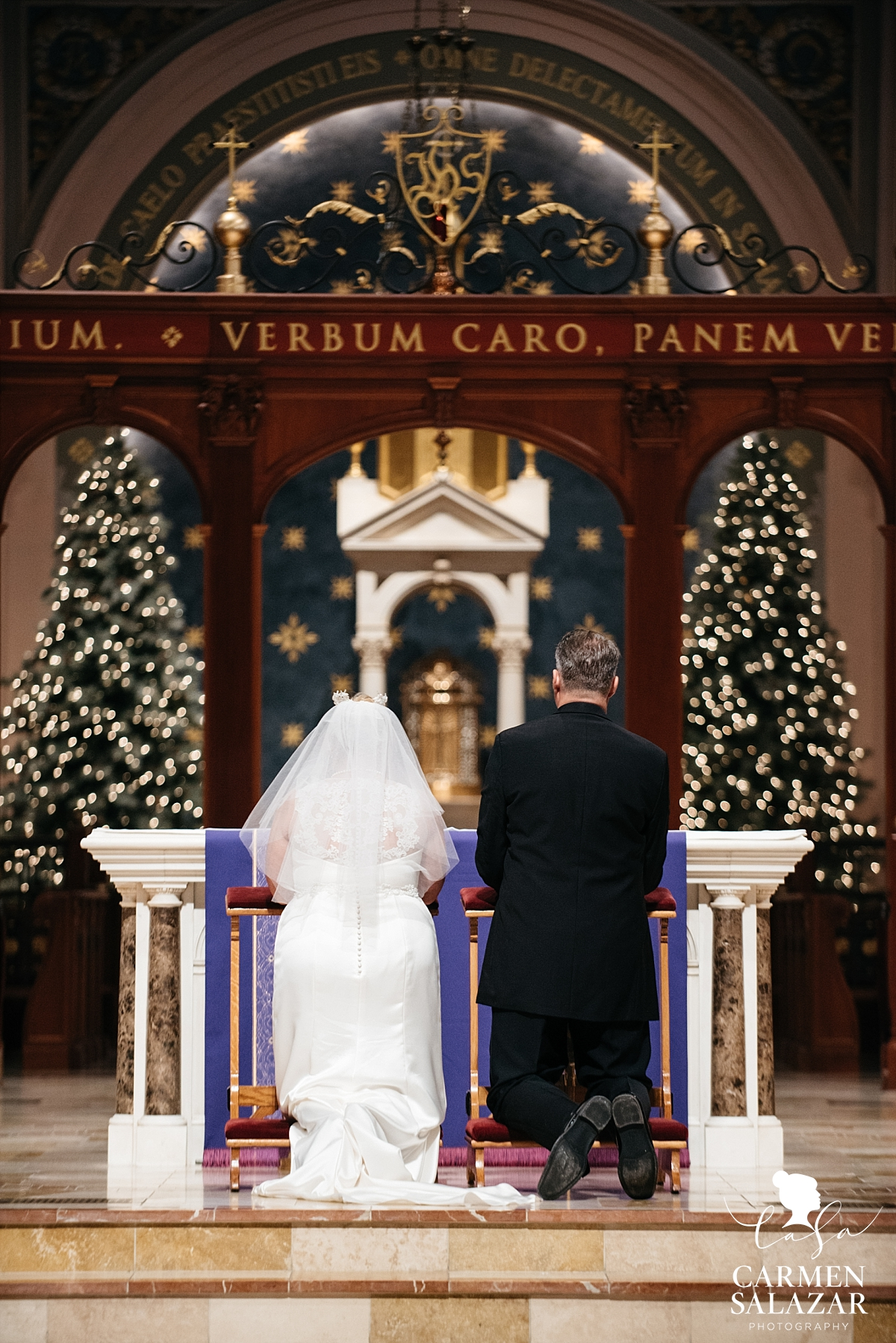 Sacramento Catholic Christmastime wedding - Carmen Salazar