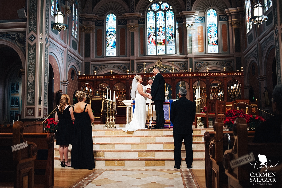 Winter Cathedral of the Blessed Sacrament wedding - Carmen Salazar