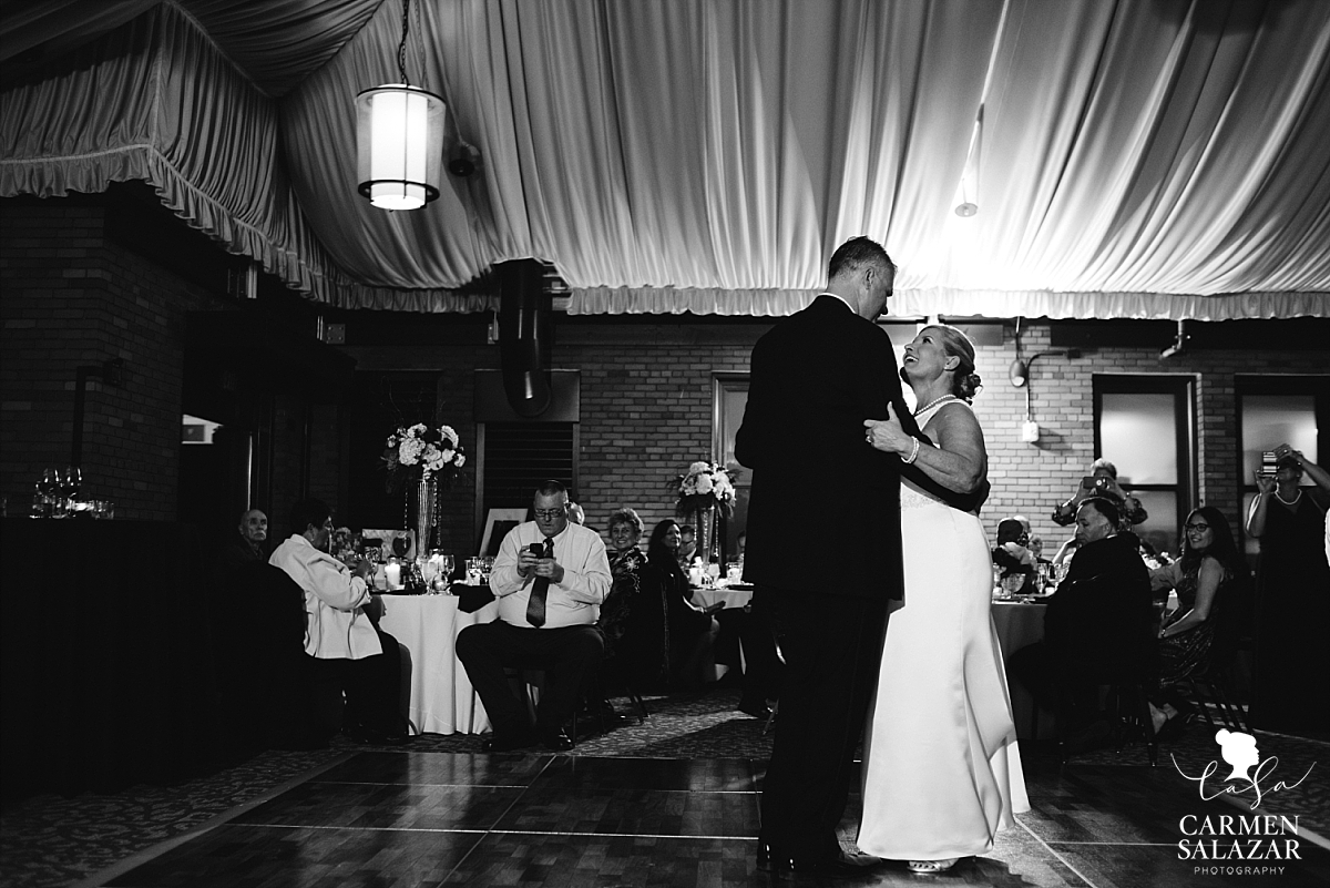 Citizen Hotel ballroom first wedding dance - Carmen Salazar