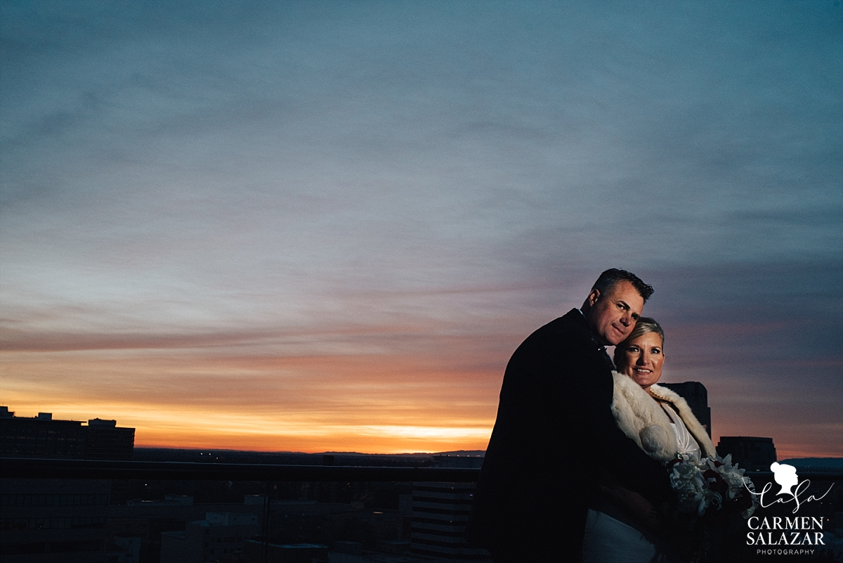 Sunset wedding photography at the Citizen Hotel - Carmen Salazar