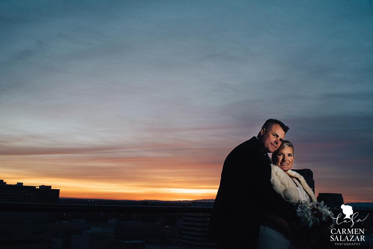 Citizen Hotel sunset wedding photography - Carmen Salazar