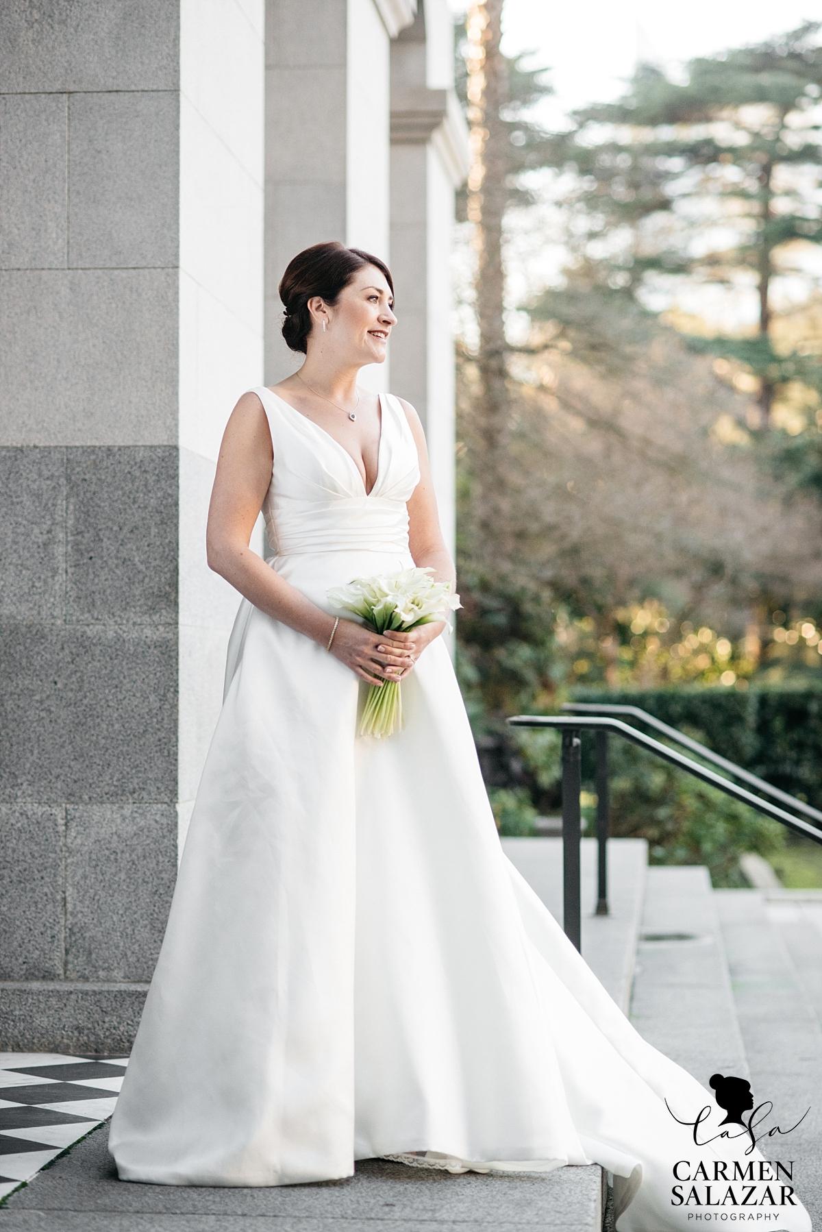 Beautiful bride on Capitol steps - Carmen Salazar