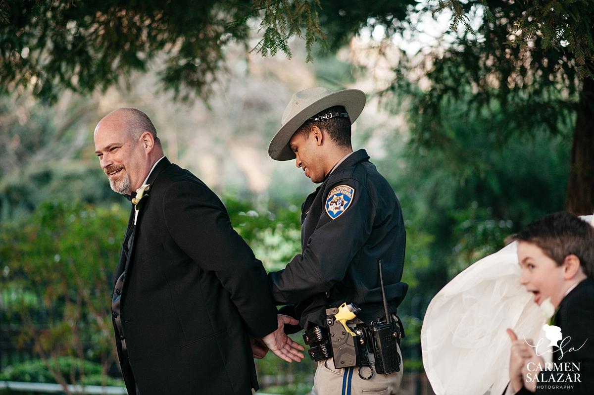 Wedding prank at Capitol Park - Carmen Salazar