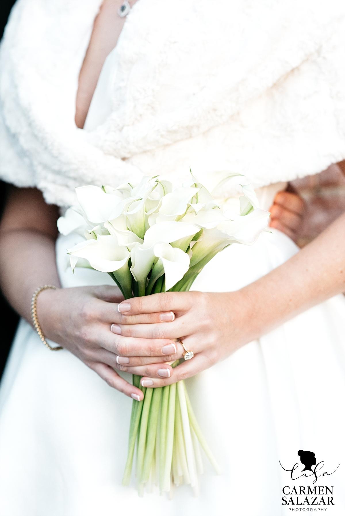 Calla Lilly wedding bouquet - Carmen Salazar