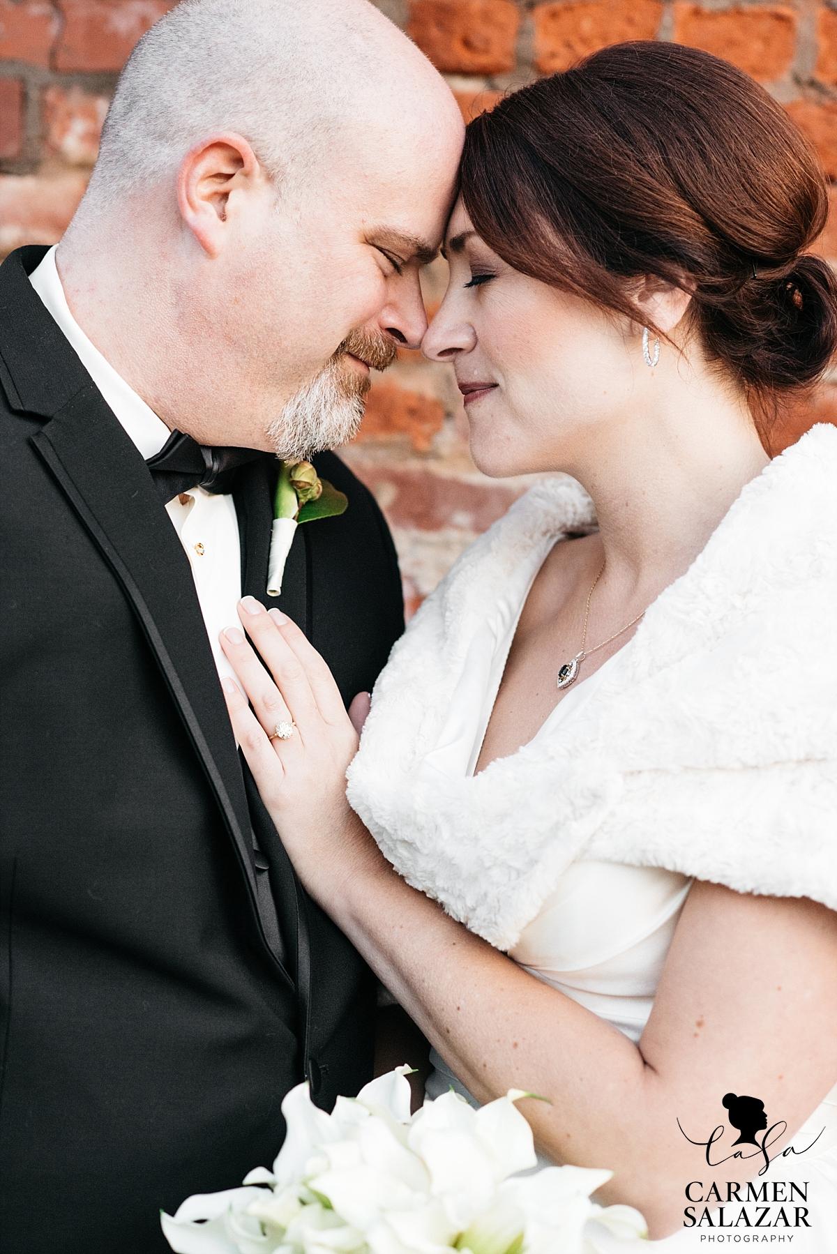 Tender wedding photography in Old Sacramento - Carmen Salazar