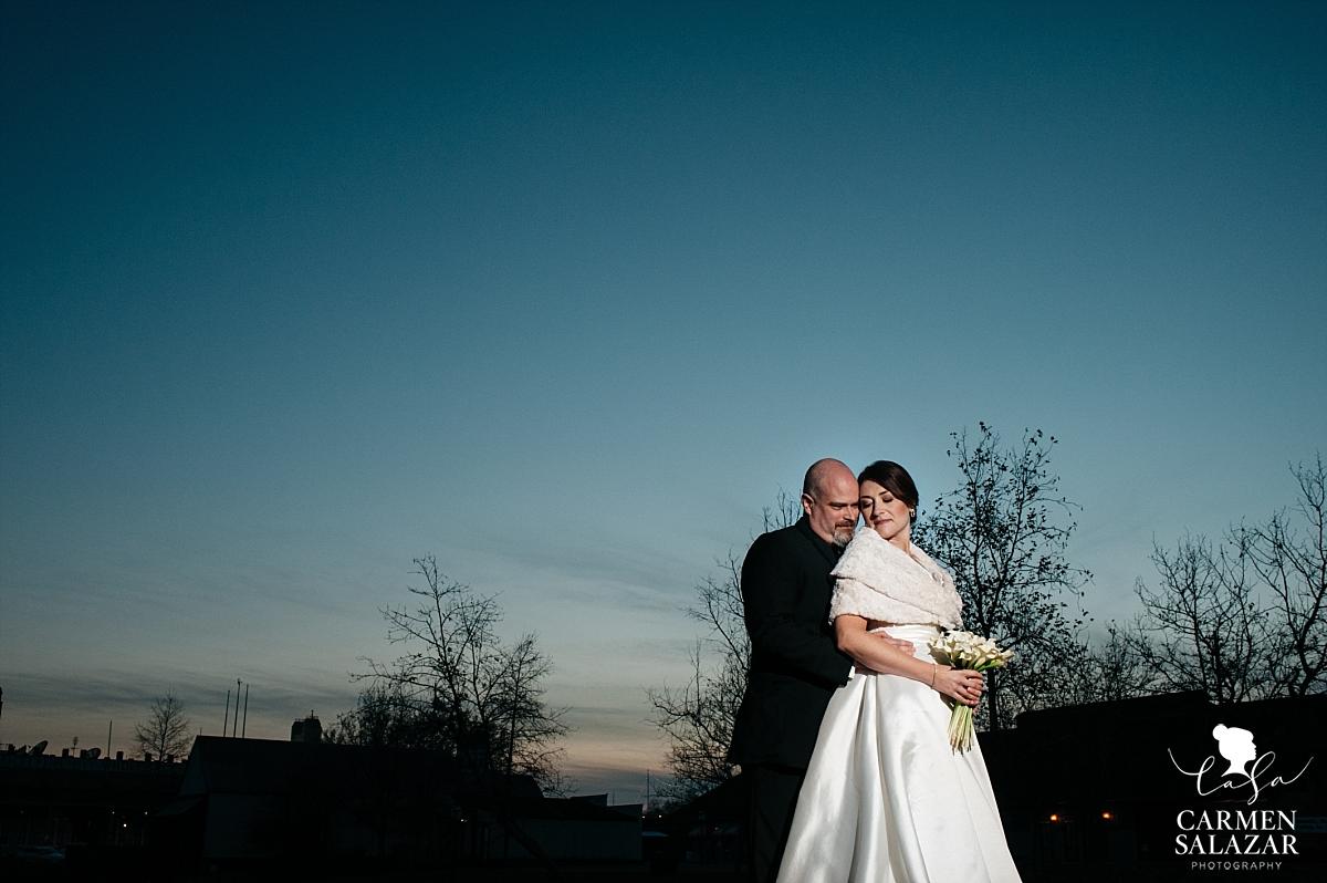 Epic sunset wedding photography in Old Sacramento - Carmen Salazar