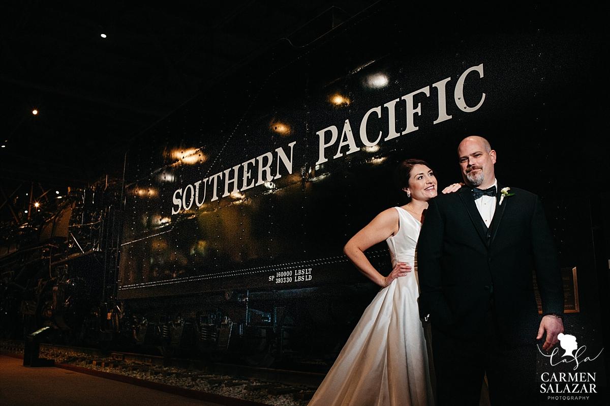 Sacramento Railroad Museum wedding photography - Carmen Salazar