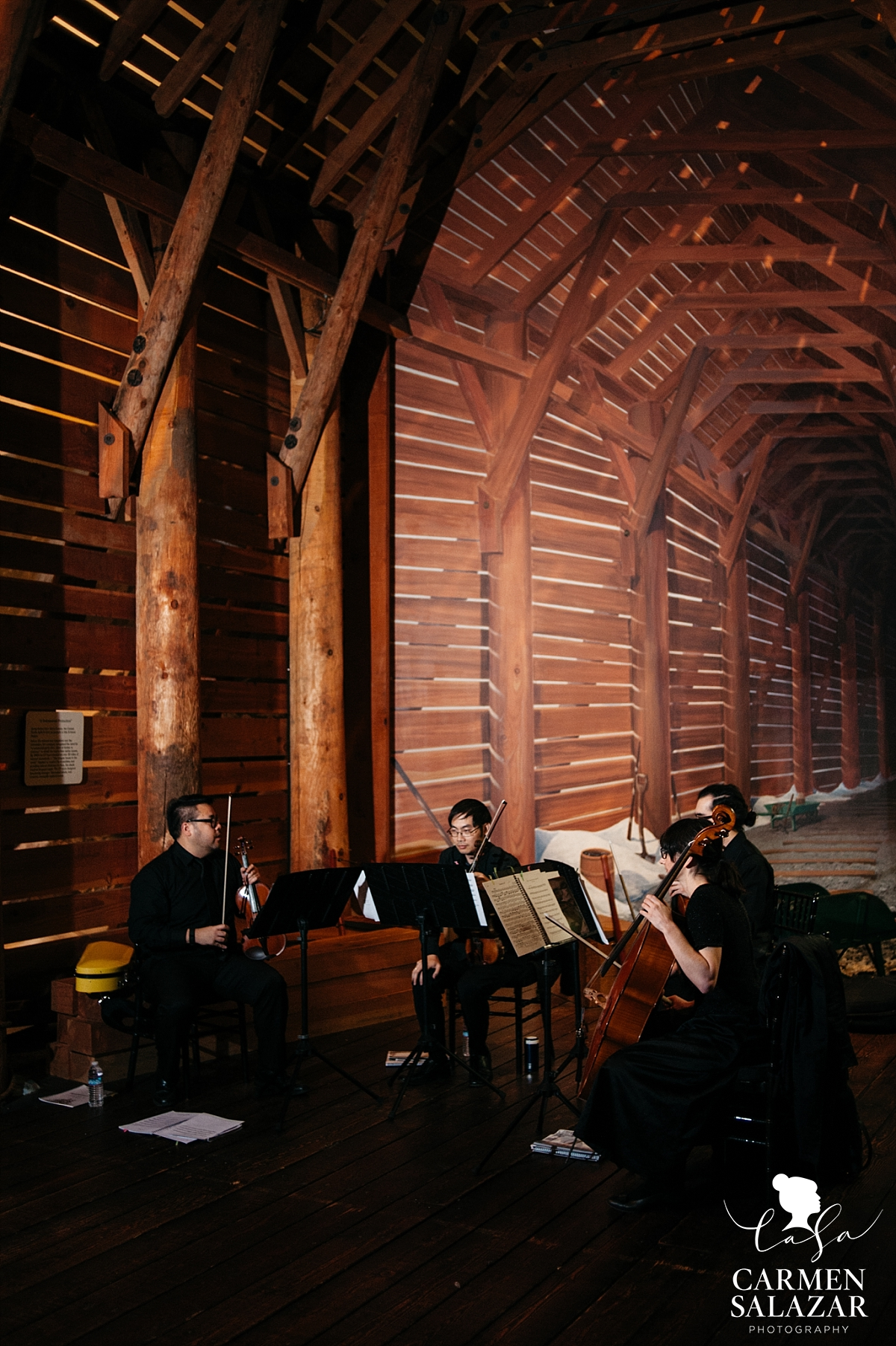 Sacramento String Quartet wedding performance - Carmen Salazar
