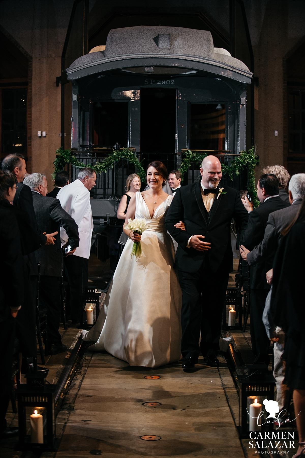Newlyweds at California Railroad Museum - Carmen Salazar