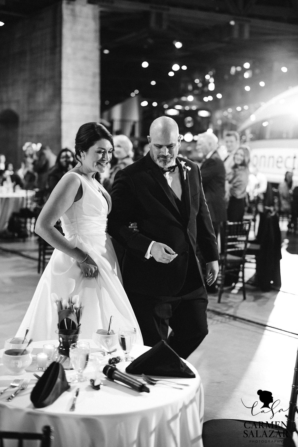 Grand entry to museum wedding reception - Carmen Salazar