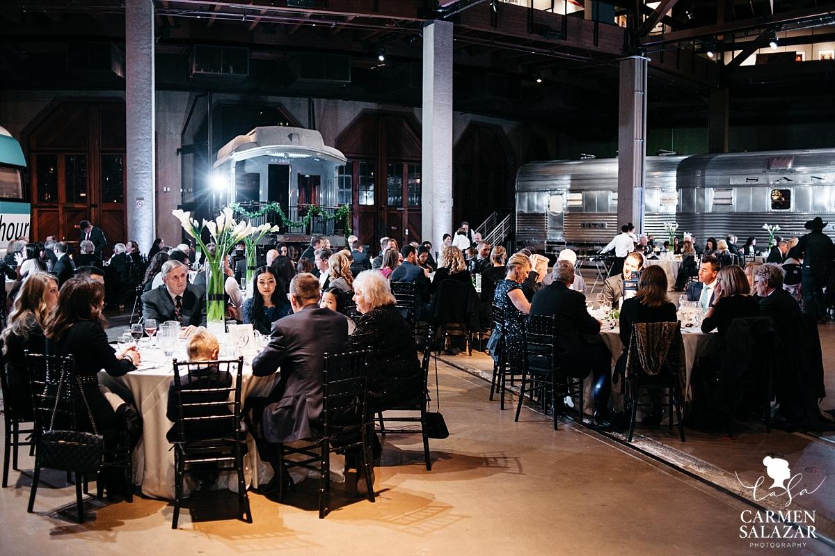 Wedding reception at train history museum - Carmen Salazar