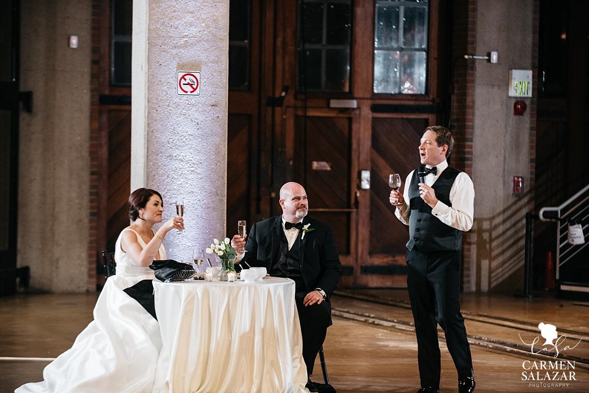 Best man speech at winter wedding - Carmen Salazar