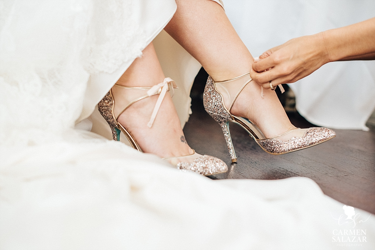 Fun glittery bridal high heels - Carmen Salazar