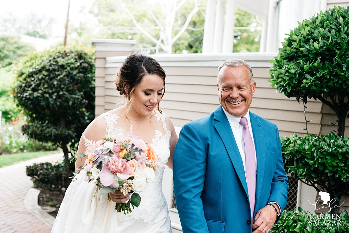 Bride's first look with dad at Vizcaya - Carmen Salazar