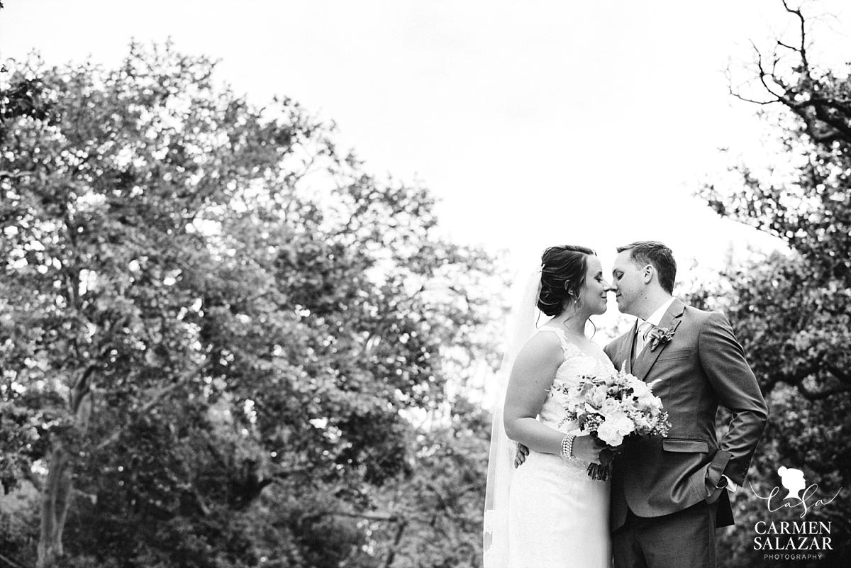 Bride and groom outside Vizcaya Mansion - Carmen Salazar