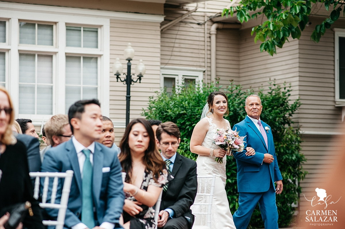 Bride walks aisle at Vizcaya spring wedding - Carmen Salazar