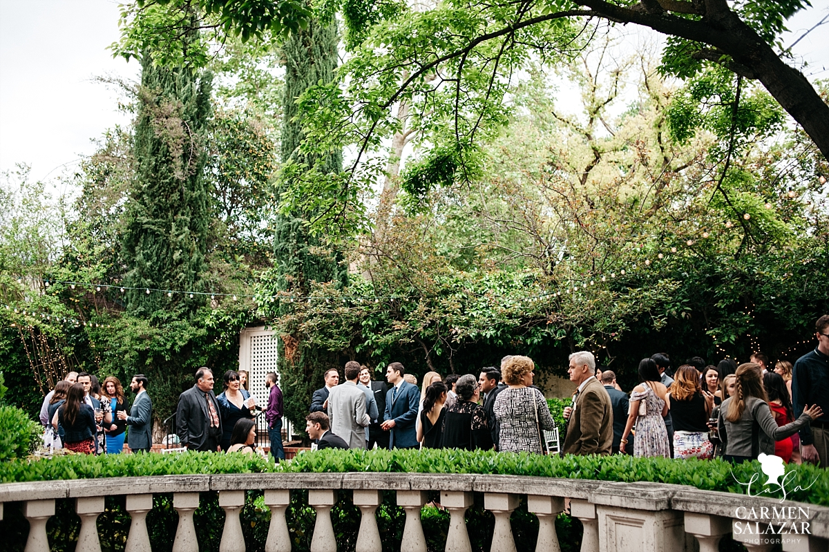 Cocktail hour at Vizcaya Mansion wedding - Carmen Salazar