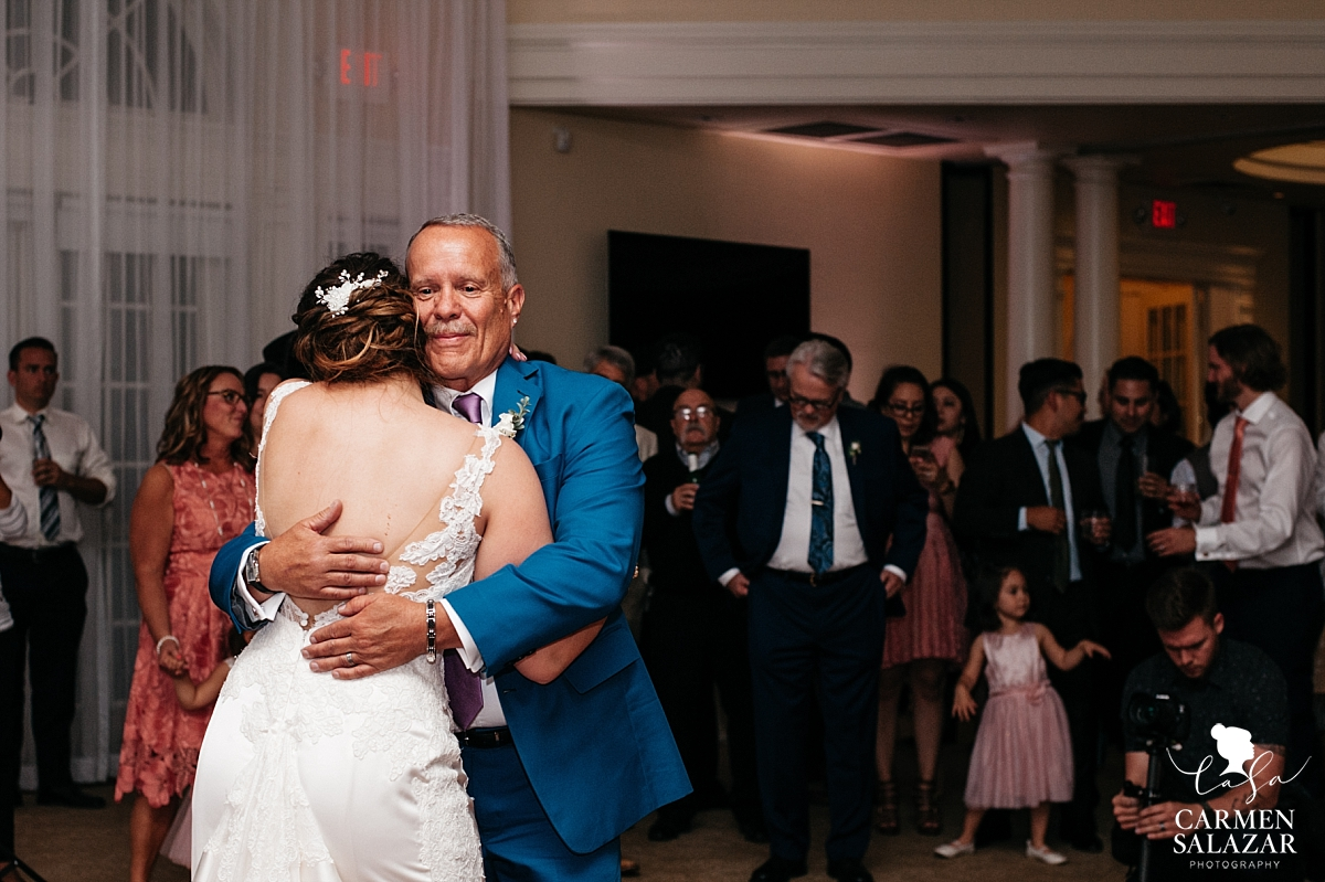 Emotional father daughter dance at Vizcaya - Carmen Salazar