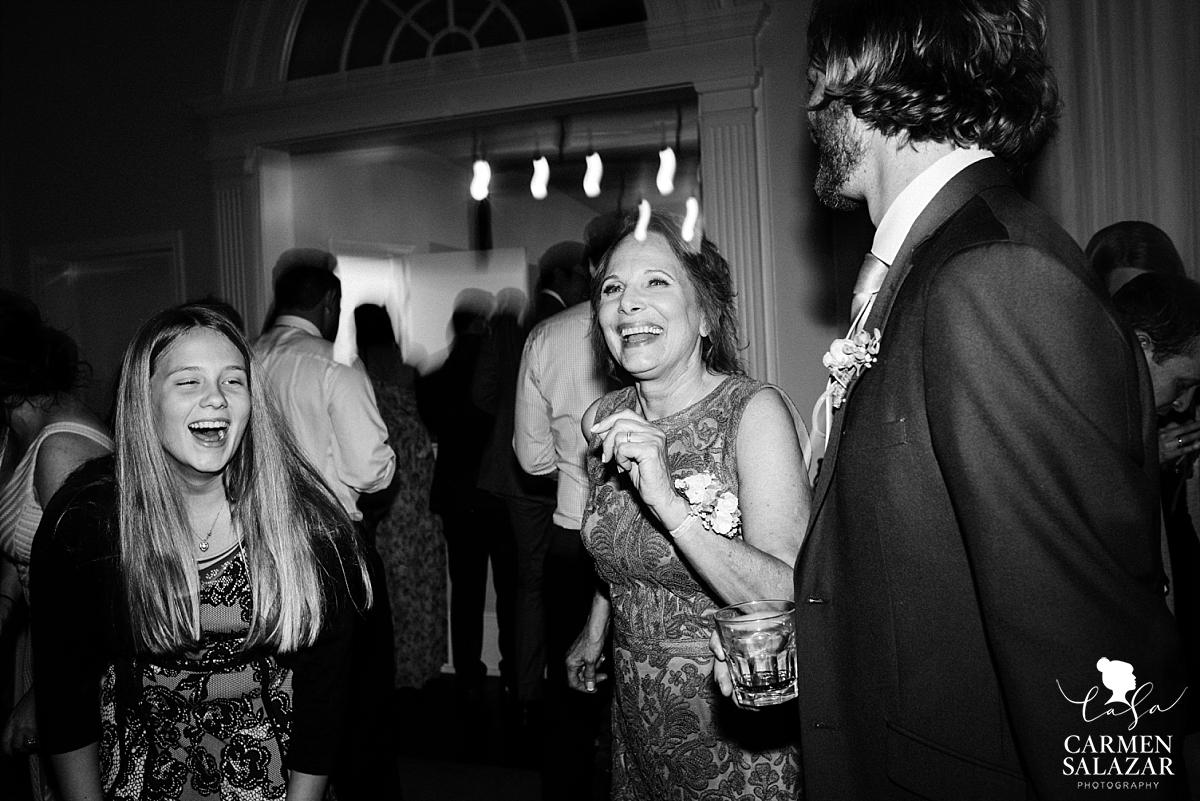Groom's mother dancing at reception - Carmen Salazar