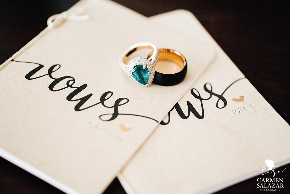 Custom vow books for Sacramento wedding - Carmen Salazar