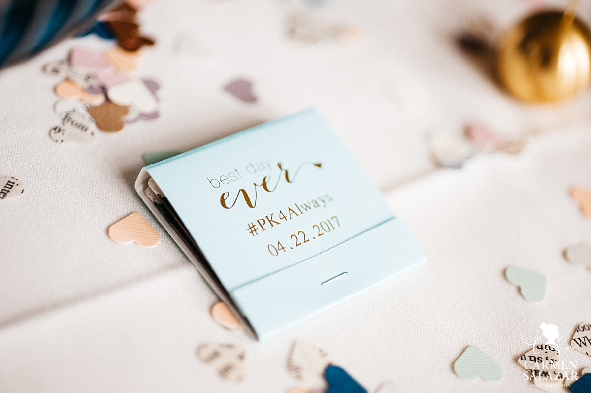 Custom wedding favor matchbook - Carmen Salazar