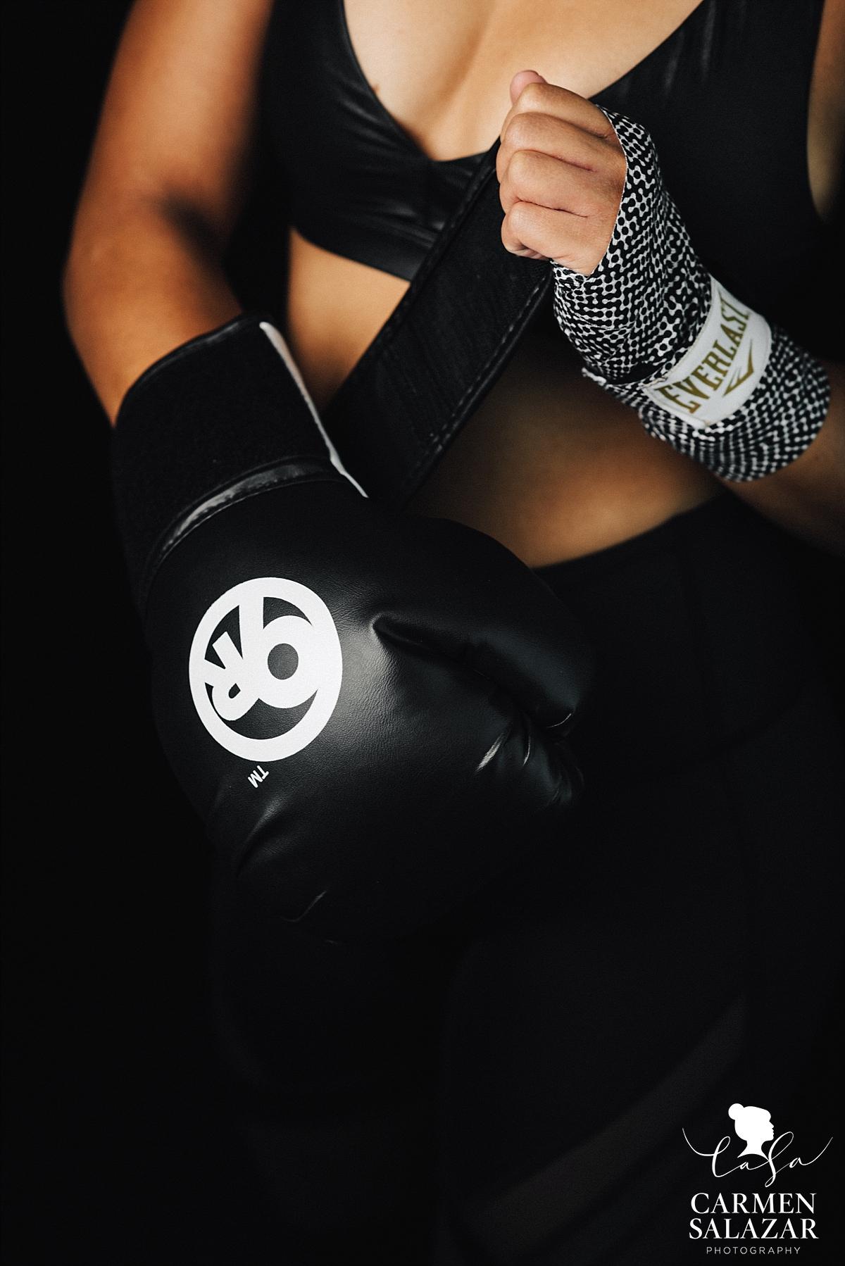 Fitness portrait gear detail - Carmen Salazar