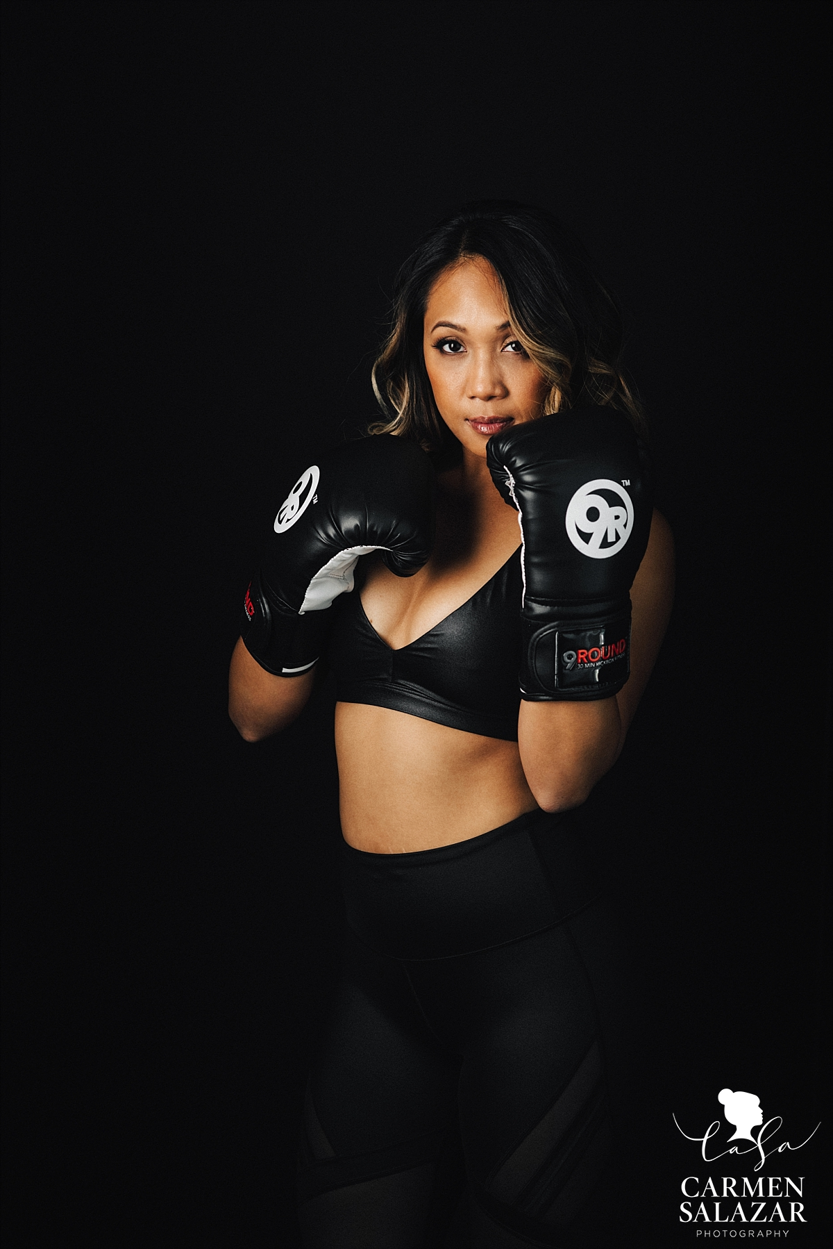 Female boxing fitness portraits - Carmen Salazar