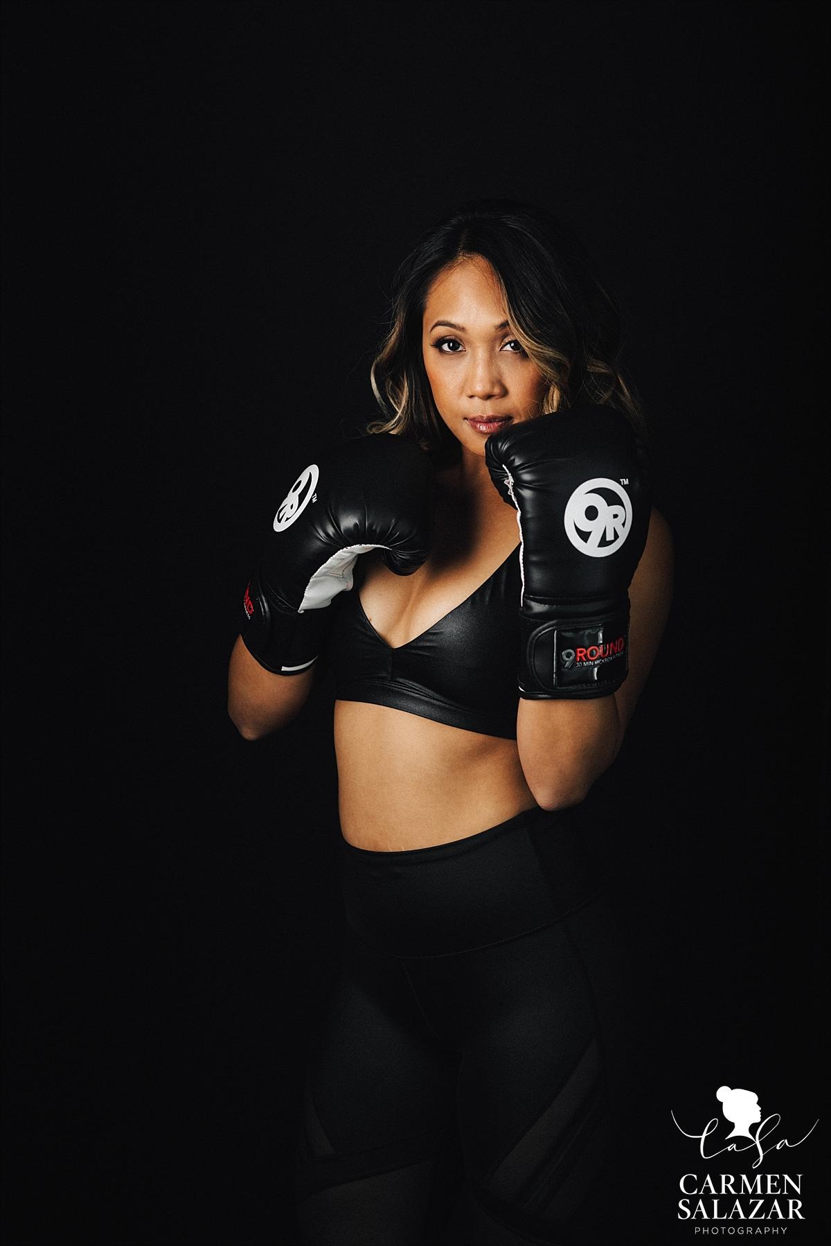 Female boxing fitness portraits - Carmen Salazar