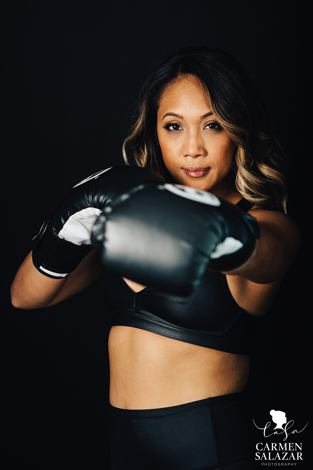 Fitness action head shots - Carmen Salazar