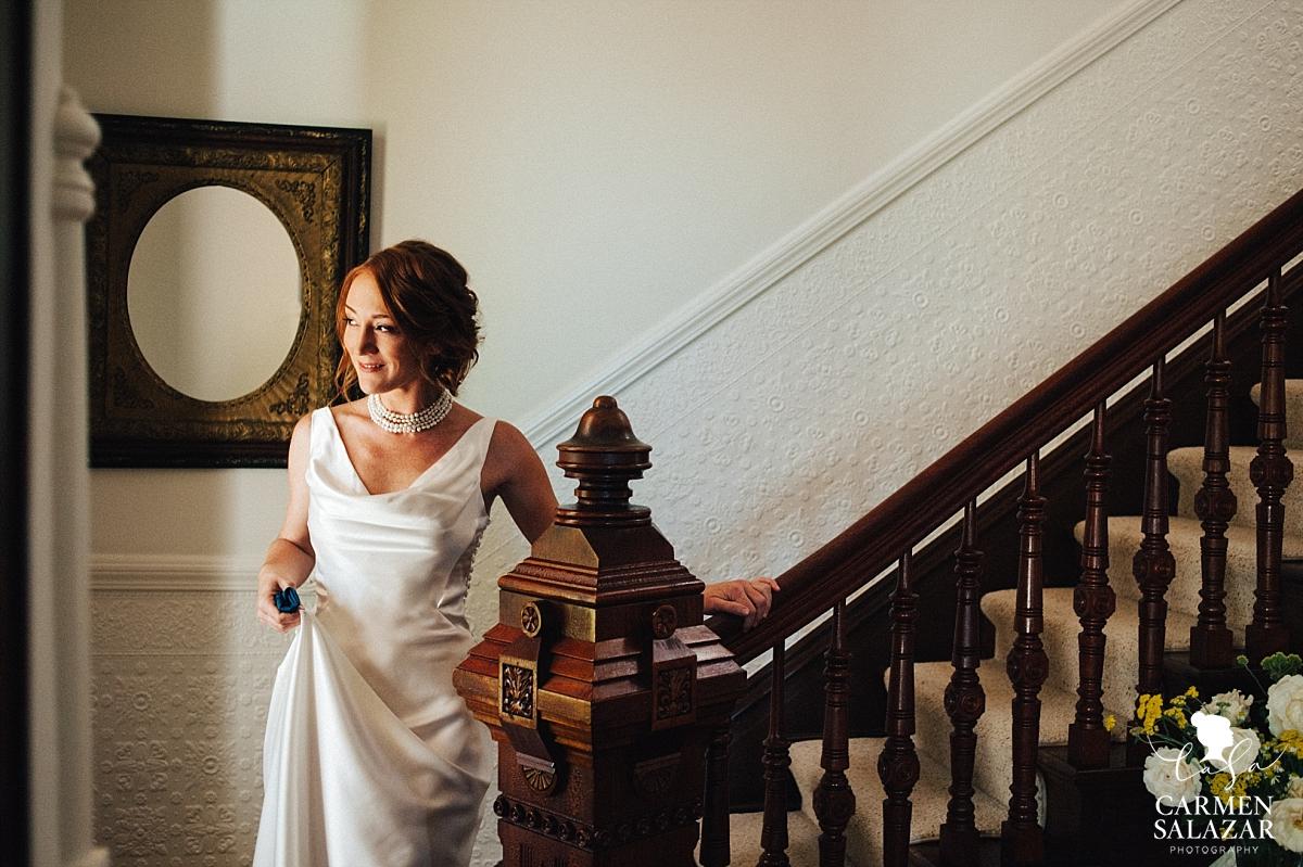 Bride getting ready for Park Winters wedding - Carmen Salazar