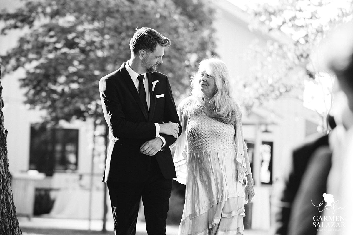 Emotional mom walks groom down the aisle - Carmen Salazar