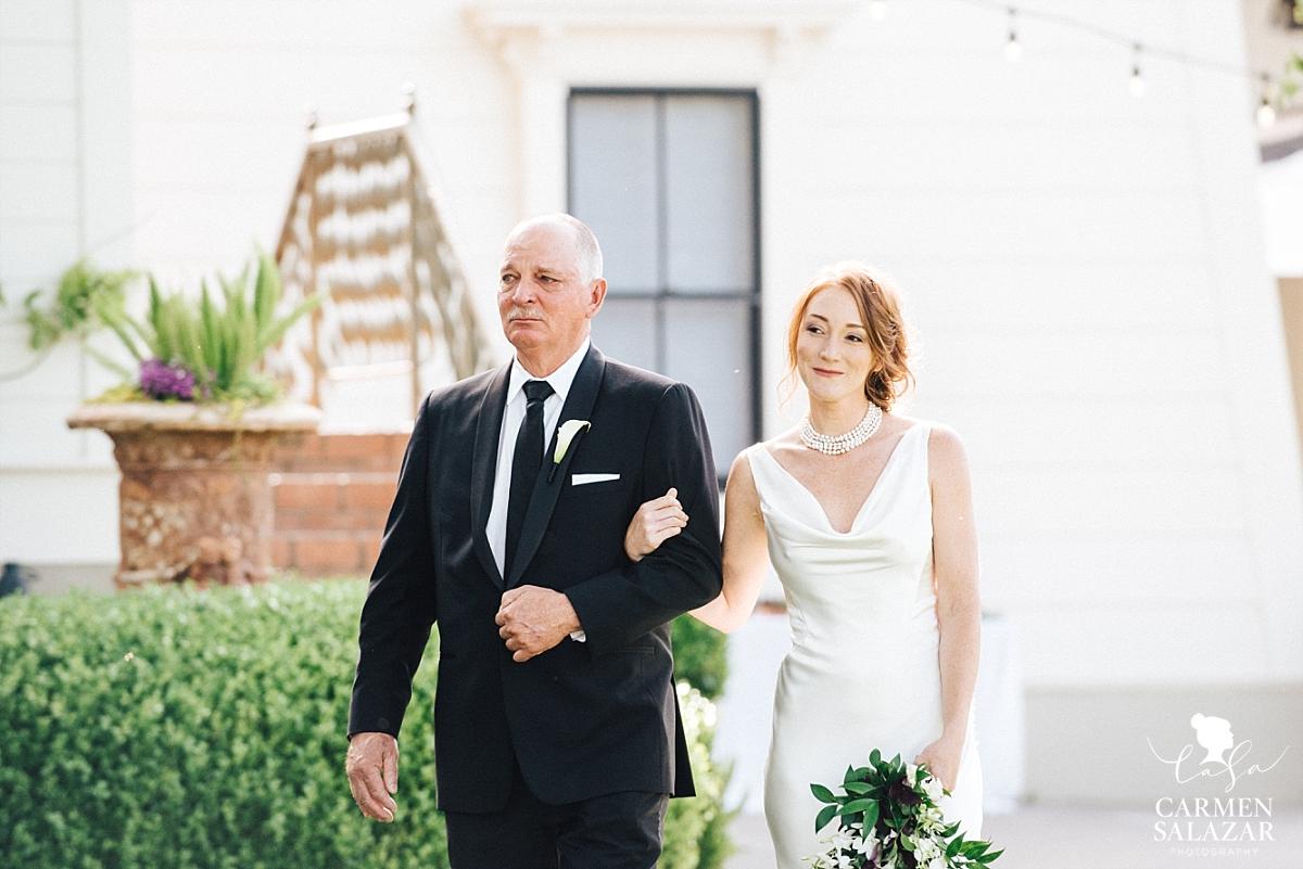 Emotional father walks bride down the aisle - Carmen Salazar