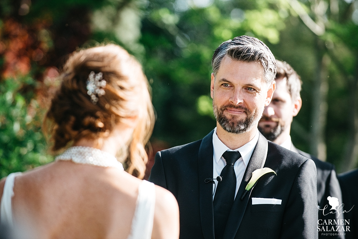 Groom's first look at bride - Carmen Salazar