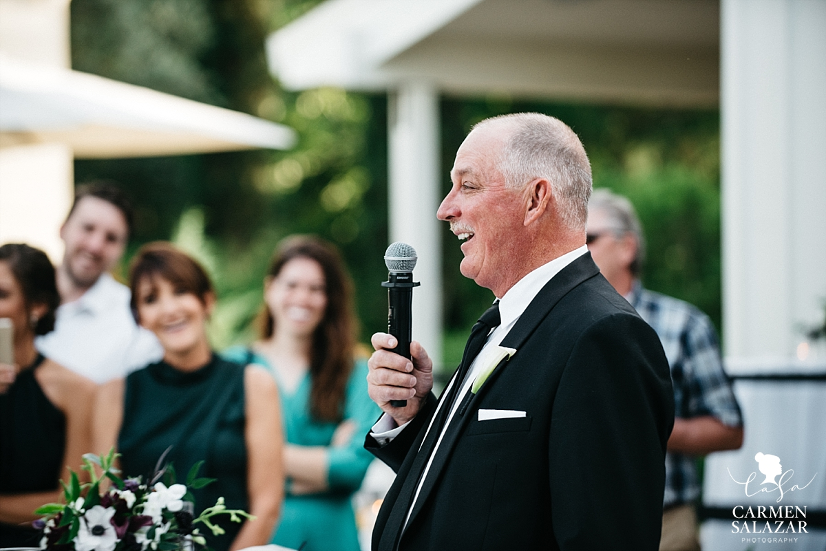 Bride's father gives welcome speech - Carmen Salazar
