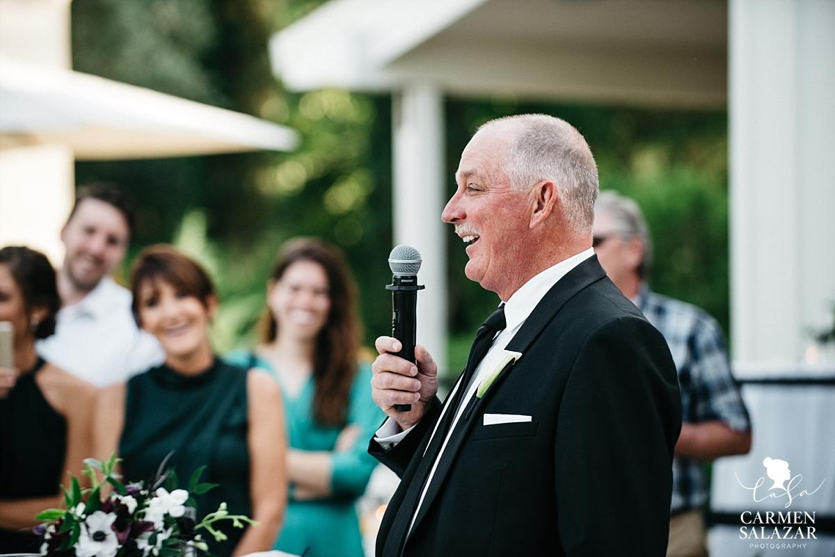 Bride's father gives welcome speech - Carmen Salazar