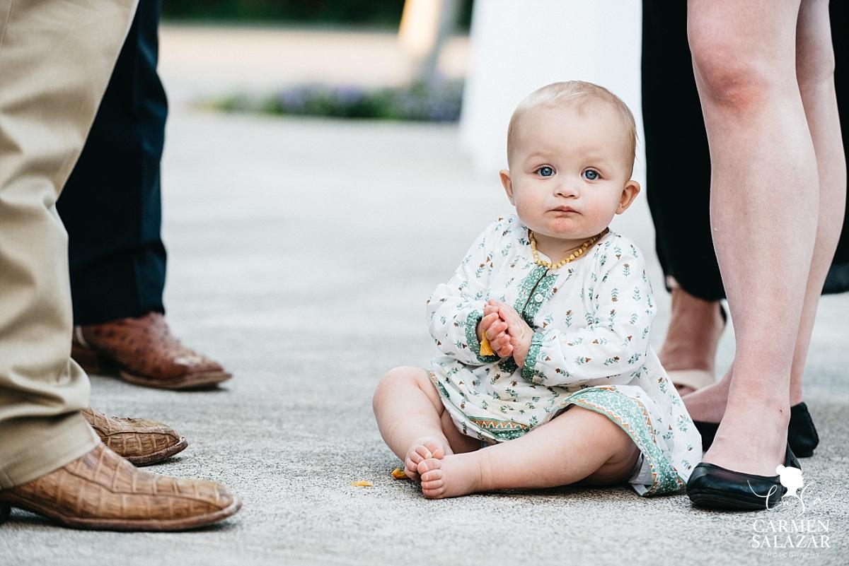 Adorable baby at Park Winters wedding reception - Carmen Salazar