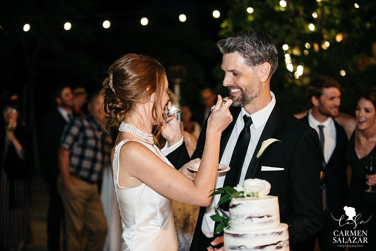 Cake cutting at Park Winters reception - Carmen Salazar