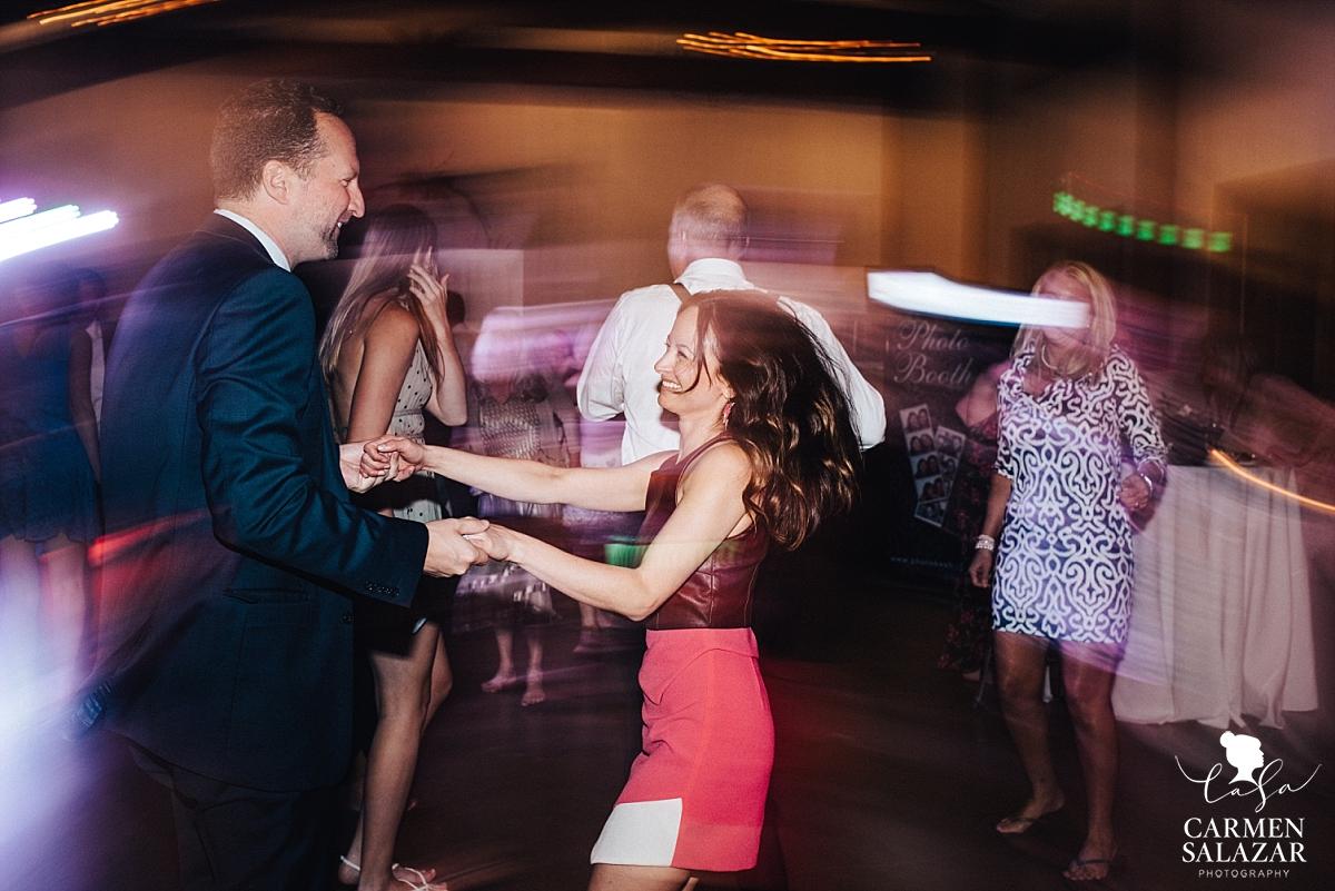 Fun dance floor at Park Winters - Carmen Salazar