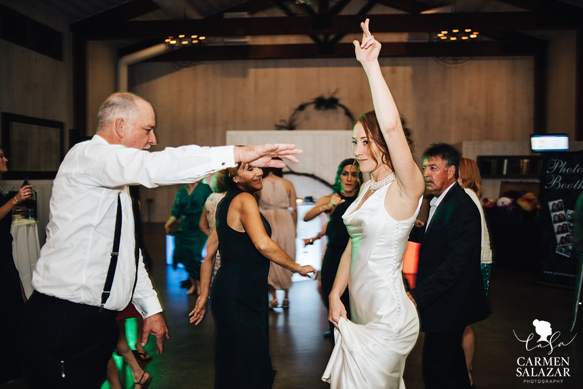 Bride and her father dance at Winters reception - Carmen Salazar