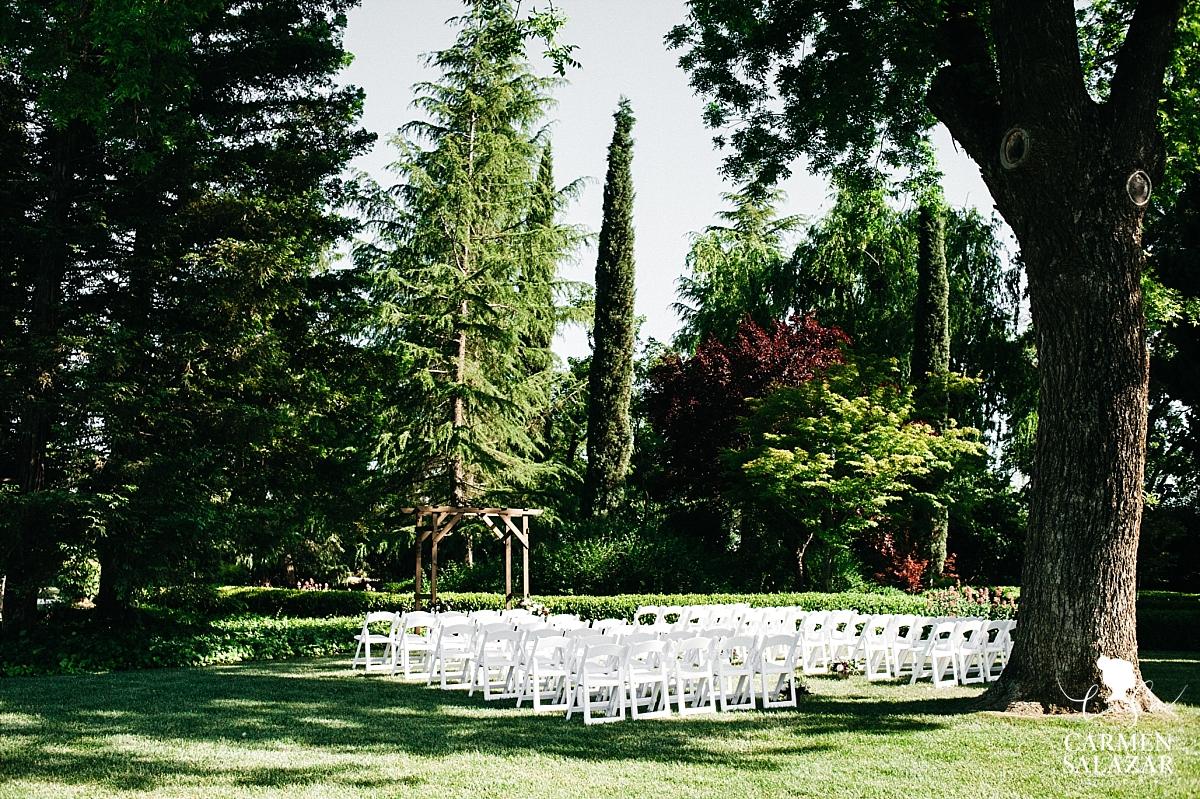 Outdoor ceremony at Park Winters - Carmen Salazar