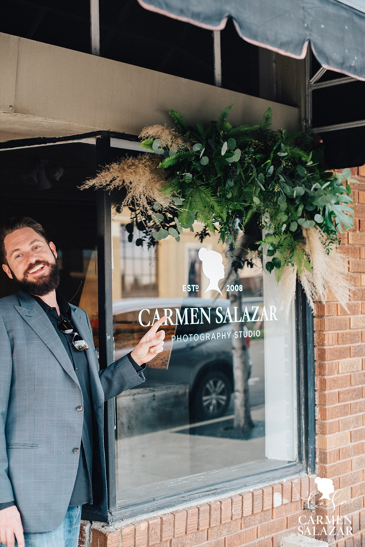 New sign for photography studio grand opening - Carmen Salazar