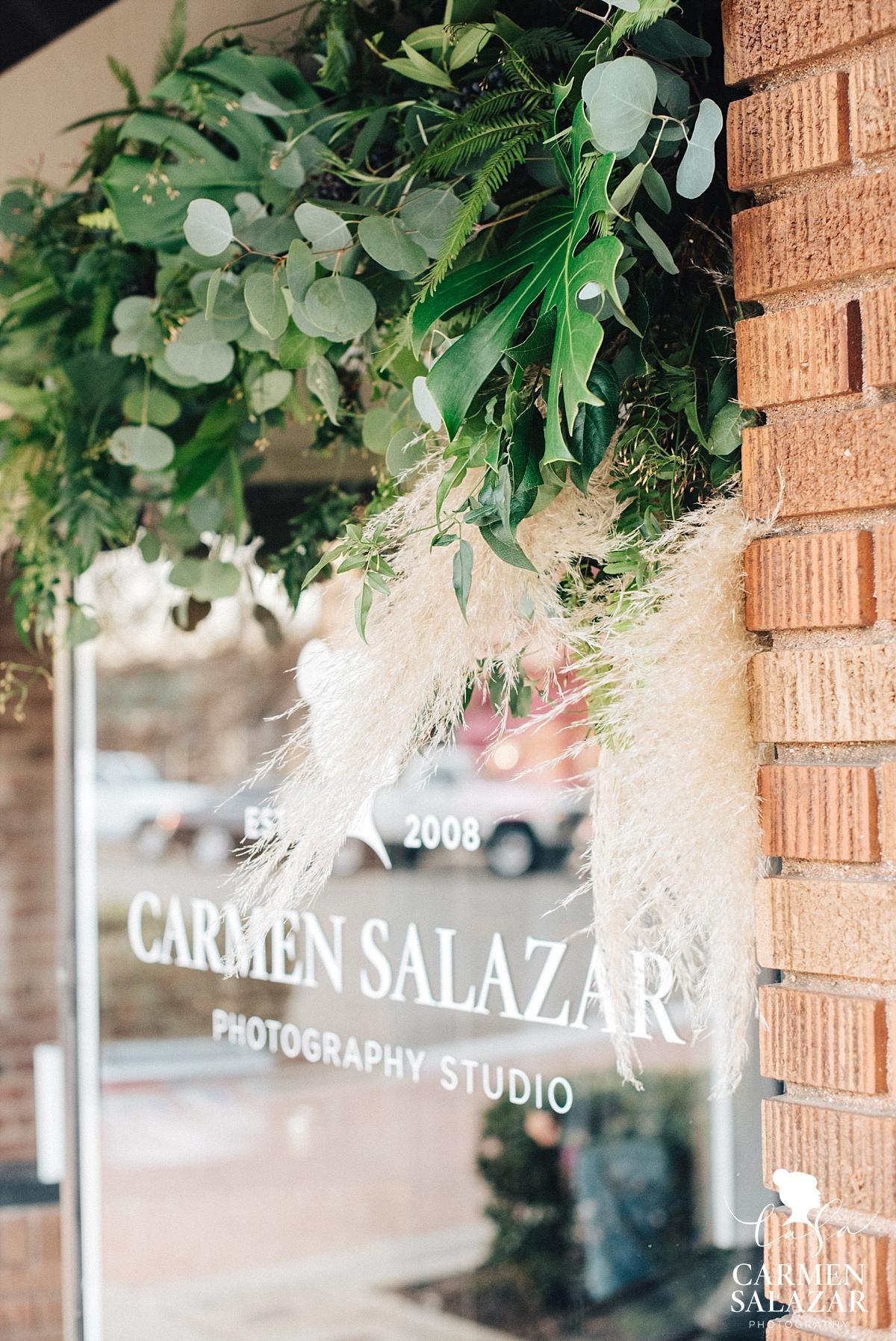 Tropical floral design at photography studio grand opening - Carmen Salazar