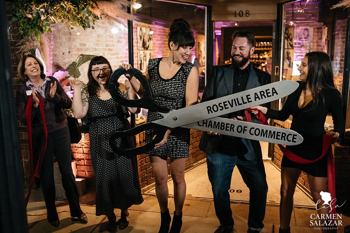 Roseville Chamber of Commerce ribbon cutting - Carmen Salazar